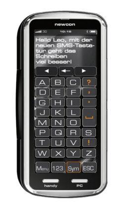 Constin Projekte: newcon mit SMS-Tastatur, entwickelt von Hans Constin