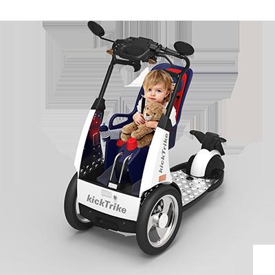 kickTrike, Produktdesign, Engineering und Prottypenbau von Constin, Patente von Constin, dreirädriges Fahrzeug mit Kind