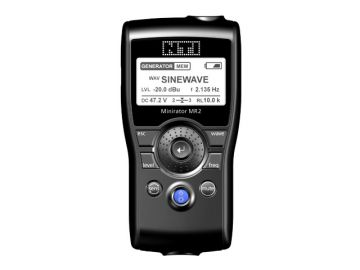 Das MR2 für NTi Audio betreute Constin vom Produktdesign bis in die Kleinserienprodution im Vakuumgussverfahren. Hier: Rendering aus SolidWorks, schwarzes Handheld mit Display und Menue Button.