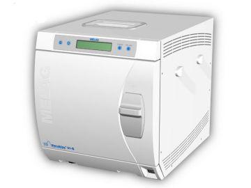 Vacuklav 30B+, Produktdesign, Engineering und Prototyping (CNC-Fräse) von Constin, Das Rendering aus SolidWorks stellt das Kunststoffgehäuse eines weißen waschmachinenähnlichen Druckbehälters mit Display dar, großes Bild