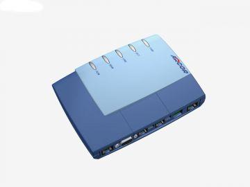FRITZ!Box 7170 für Arcor, Designstudie aus SolidWorks, Router hier in Perspektive diverse Farbvarianten: hier in dunkel und mittelblau