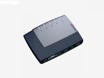 FRITZ!Box für Arcor, Designstudie aus SolidWorks, Designgehäuse des Routers hier in Perspektive diverse Farbvarianten: hier schwarz-grau