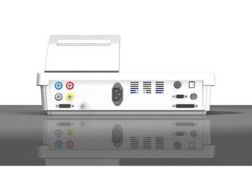 MA 44, Produktdesign. Konstruktion und Vakuumguss von Constin, hier: Rendering aus Solidworks, es zeigt ein weißes Gerät mit diversen Anschlüssen von hinten.