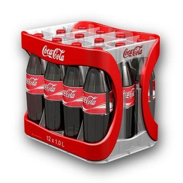 Getränkekasten, Produktdesign und Prototyping - CNC-Fraesteile von Constin, hier ein fotorealistisches Rendering aus SolidWorks des Getränkekastens aus Kunststoff im bekannten Rot, von hinten