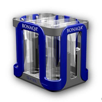 Getränkekasten, Produktdesign und Prototyping - CNC-Fraesteile von Constin, hier ein fotorealistisches Rendering aus SolidWorks des Getränkekastens aus Kunststoff hier für Bonaqa
