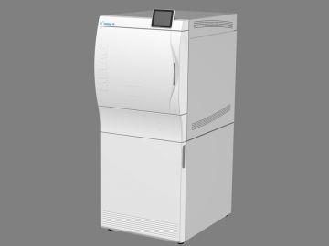 Cliniclave 45, Produktdesign by Constin, Produktdesign-Studie ausgearbeitet in SolidWorks, das Rendering zeigt das Designgehäuse des Autoclaven - weiß, großes Bild