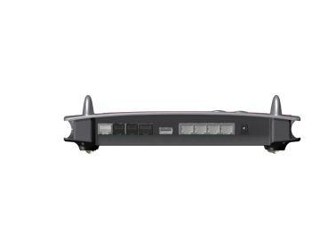 Fritz!Box 7490, Produktdesign, Konstruktion, Prototypenbau (3D-Druck) von Constin, das Rendering aus SolidWorks zeigt das Kunststoffgehäuse der FRITZ!Box 7490 von hinten