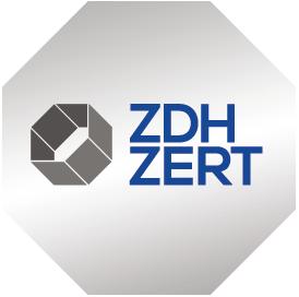 Abbildung des Zertifizierungszeichens ZDH ZERT nach 9001