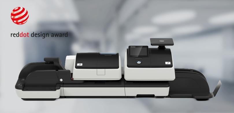 Für das Design der Postbase 100 erhielt Constin GmbH den reddot design award.