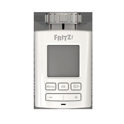 FRITZ!DECT 301, Produktdesign, Konstruktion, 3d-Druck und Vakuumguss von Constin, hier ein fotorealistische rendering aus Solidworks - der Klassisch anmutende weiße Regler frontal