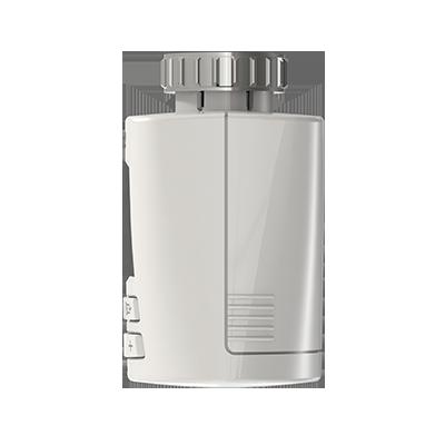 FRITZ!DECT 301, Produktdesign, Konstruktion, 3d-Druck und Vakuumguss von Constin, hier ein fotorealistische rendering aus Solidworks - der Klassisch anmutende weiße Regler von der Seite