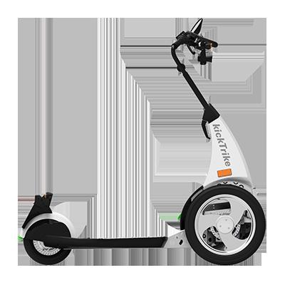 kickTrike, Produktdesign, Engineering und Prottypenbau von Constin, Patente von Constin, dreirädriges Fahrzeug in der Seitenansicht