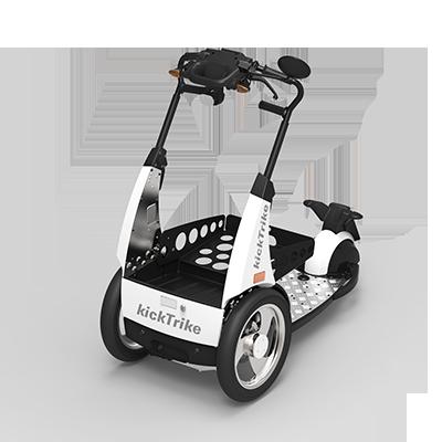 kickTrike, Produktdesign, Engineering und Prottypenbau von Constin, Patente von Constin, dreirädriges Fahrzeug mit Blechschütte