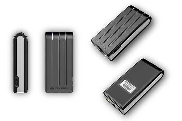 MGPS 2; Produktdesign + Konstruktion + Rapid Prototyping hier: CNC-Fraesen von Constin. Das Rendering aus SolidWorks zeigt mehrere Ansichen des Geräts