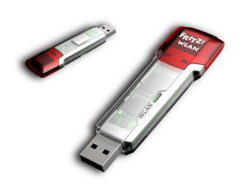 FRITZ!WLAN Stick AC 860,Produktdesign, Prototyping - CNC-Fraesteile, von Constin, hier ein fotorealistisches Rendering aus SolidWorks des Designgehäuses mit USB-Stecker in Rot und transluzent, großes Bilde