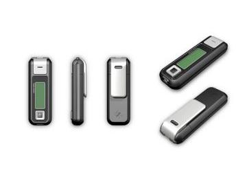 TopSec Mobile, Produktdesign, Engineering, Prototyping und Vakuumguss von Constin, hier ein Rendering aus SolidWorks des Designgehäuses: einhandy-ähnliches Gerät mit großen Display, mehrere Ansichten, Designvariante 01