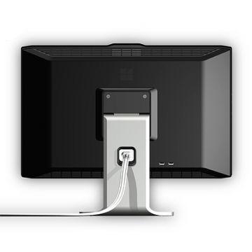 """24""""-Monitor: Produktdesign-Studie, diverse Designvarianten, fotorealistisches Rendering aus SolidWorks, Blick von hinten mit Kabel"""