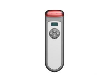 Infracom, Projektbetreuung von der Konstruktion bis zur Serie von Constin, das Rendering aus SolidWorks zeigt ein Kunststoffgehäuse eines silbernen Receivers, Draufsicht