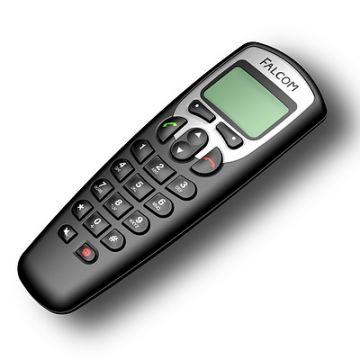 BT-Telefon, Produktdesign, Konstruktion, Prototyping - CNC-Fraesteile, Vakuumguss - Produktionsbetreuung von Constin, hier ein fotorealistisches Rendering aus SolidWorks des Kunststoffgehäuses des Telefons mit großem Display von oben