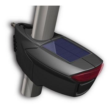 Jetlock, Rendering mit Sattelstange und Solarpanel, Projektentwicklung vom Produktdesign bis zum Designfunktionsmodell aus dem 3d-Drucker