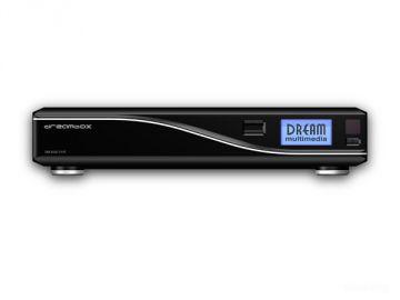 DM8000 HD PVR, Produktdesign by Constin, Rendering aus SolidWorks: schwarzes Designgehäuse mit silberner Welle, frontal