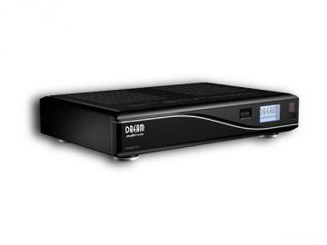 DM8000 HD PVR, Produktdesign by Constin, Rendering aus SolidWorks: schwarzes Designgehäuse mit silberner Welle, von vorn