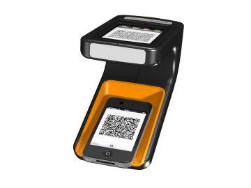 Phonereader, Produktdesign_Studie von Constin, das Rendering aus SolidWorks zeigt dem Smartphone-Leser von oben