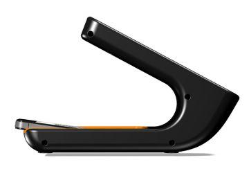 Phonereader, Produktdesign_Studie von Constin, das Rendering aus SolidWorks zeigt dem Smartphone-Leser von der Seite, Designvariante 02