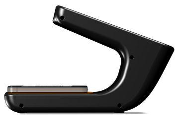 Phonereader, Produktdesign_Studie von Constin, das Rendering aus SolidWorks zeigt dem Smartphone-Leser von der Seite