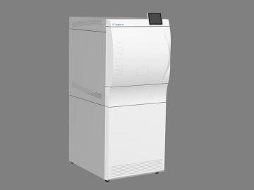 Cliniclave 45, Produktdesign by Constin, Produktdesign-Studie ausgearbeitet in SolidWorks, das Rendering zeigt das Designgehäuse des Autoclaven - weiß mit Display