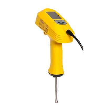 UP200Ht, Produktdesign, Engineering, Prototyping (3D-Druck), Produktion (Vakuumguss) von Constin, dieses Rendering aus SolidWorks zeigt das gelbs Ultraschall-Handgerät.