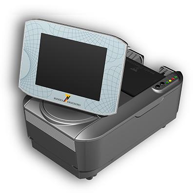 Visualisierungsgerät VG 100 international: Produktdesign, Konstruktion, Prototypenbau, CNC-Fräsen, von Constin, hier ein Rendering des Designgehäuses aus SolidWorks Perspektive mit Monitor