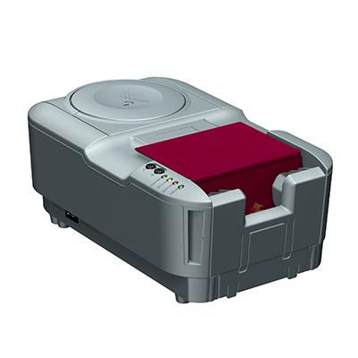 Visualisierungsgerät VG 100: Produktdesign, Konstruktion, Prototypenbau, CNC-Fräsen, Kleinserienproduktion: Vakuumguss von Constin, hier ein Rendering des Designgehäuses aus SolidWorks mit eingelegtem Pass