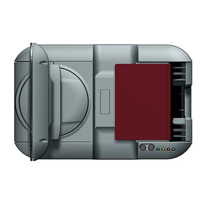 Visualisierungsgerät VG 100: Produktdesign, Konstruktion, Prototypenbau, CNC-Fräsen, Kleinserienproduktion: Vakuumguss von Constin, hier ein Rendering des Designgehäuses aus SolidWorks mit Monitor und eingelegtem Pass von oben