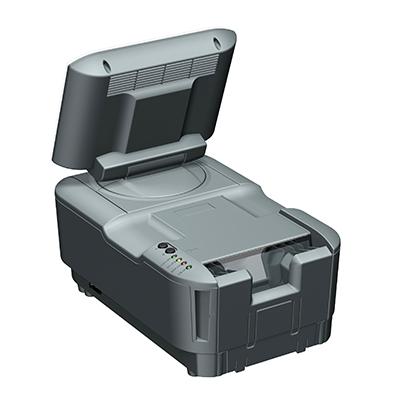 Visualisierungsgerät VG 100: Produktdesign, Konstruktion, Prototypenbau, CNC-Fräsen, Kleinserienproduktion: Vakuumguss von Constin, hier ein Rendering des Designgehäuses aus SolidWorks Perspektive mit Monitor von hinten