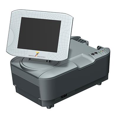 Visualisierungsgerät VG 100: Produktdesign, Konstruktion, Prototypenbau, CNC-Fräsen, Kleinserienproduktion: Vakuumguss von Constin, hier ein Rendering des Designgehäuses aus SolidWorks Perspektive mit Monitor