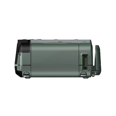 VM100, Produktdesign & Konstruktion & Prototyping: 3D-Druck + Vakuumguss v. Constin, Das Rendering aus SolidWorks zeigt das military-grüne Kunststoffgehäuse von vorn