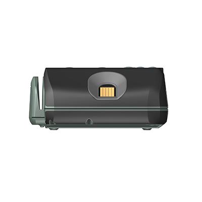 VM100, Produktdesign & Konstruktion & Prototyping: 3D-Druck + Vakuumguss v. Constin, Das Rendering aus SolidWorks zeigt das military-grüne Kunststoffgehäuse von vorn mit Fingerabdruckscanner