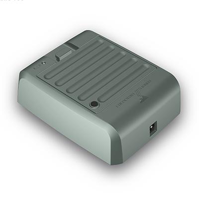Ladegerät für Visotec Mobile 100, Produktdesign, Konstruktion,CNC-fräsen und Vakuumguss von Constin, hier ein fotorealistisches Rendering deas Kunststoffgehäuses aus Solidworks, Perspektivansicht 02